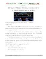 giáo trình phân tích báo cáo tài chính đại học đông á