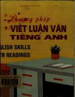 Phương pháp viết luận văn tiếng Anh
