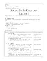 Giáo án tiếng anh lớp 5 chương trình mới