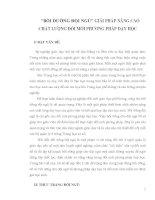 SKKN BỒI DƯỠNG ĐỘI NGŨ GIẢI PHÁP NÂNG CAO CHẤT LƯỢNG ĐỔI MỚI PHƯƠNG PHÁP DẠY HỌC