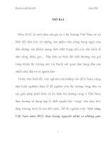 Tiểu Luận Giá vàng Việt Nam năm 2012 thực trạng, nguyên nhân và những giải pháp của Chính Phủ đối với thị trường