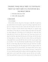 SKKN TÌM HIỂU NGHỆ THUẬT MIÊU TẢ TÂM TRẠNG NHÂN VẬT THÚY KIỀU CỦA NGUYỄN DU