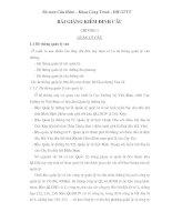 bài giảng kiểm định cầu