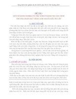 SKKN MỘT SỐ KINH NGHIỆM VỀ VIỆC HÌNH THÀNH CHO HỌC SINH PHƯƠNG PHÁP HỌC TIẾNG ANH NGOÀI GIỜ LÊN LỚP