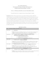 Post graduate education in environmental toxicology, technology and management on health on environment risk and impact assessment
