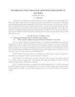 SỬ DỤNG PHỔ CỘNG HƯỞNG TỪ HẠT NHÂN ĐỂ XÁC ĐỊNH CẤU TRÚC CHALAT Bo TRONG TỔNG HỢP HỮU CƠ STRUCTURAL IDENTIFICATION OF Bo