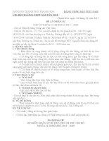 Đề án nhân sự đại hội chi bộ
