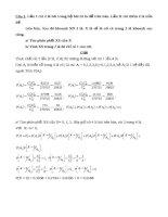 Bài tập và bài giải tổng hợp môn lý thuyết xác suất thống kê toán học