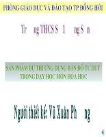 Bài giảng tích hợp liên môn Hóa học  Bài 12 Sự biến đổi chất
