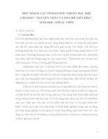 """MỘT SỐ BÀI TẬP TÌNH HUỐNG TRONG DẠY HỌC CHƯƠNG """" NGUYÊN NHÂN VÀ CƠ CHẾ TIẾN HÓA"""" SINH HỌC LỚP 12- THPT"""