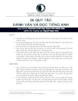 50 quy tắc đánh vần và đọc tiếng Anh  HV Nghiên cứu và đào tạo đánh vần tiếng Anh