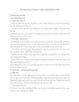 KẾ HOẠCH tổ CHỨC TIẾT SINH HOẠT lớp