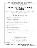 skkn TỔ CHỨC HOẠT ĐỘNG NGOẠI KHÓA CHO HỌC SINH TIỂU HỌC
