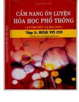 Cẩm nang ôn luyện hóa học phổ thông (lỹ thuyết và bài tập tập 2 hóa vô cơ ts  cao cự giác Phần 1