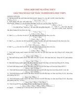 Tổng hợp những công thức giải nhanh bài tập trắc nghiệm hóa học THPT