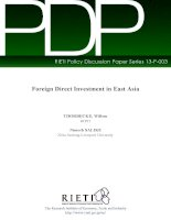 foreign direct investment in east asia