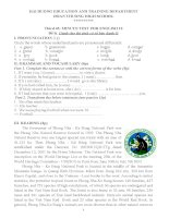 Đề kiểm tra 45 phút Tiếng Anh 10 - Bài số 3