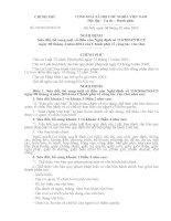 Nghị định số 09/2010/NĐ-CP ngày 08/02/2010 của Chính phủ