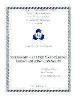 TERPENOID  vai trò ứng dụng trong đời sống con người