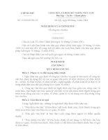 Nghị định số 110/2004/NĐ-CP ngày 08/4/2004 của Chính phủ