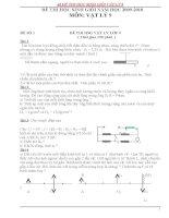 Tuyển tập đề thi học sinh giỏi môn vật lý lớp 9