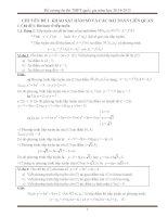 Đề cương ôn thi THPT quốc gia môn toán năm học 2014-2015