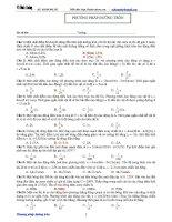 Ôn thi vật lí Đh - Phương pháp đường tròn