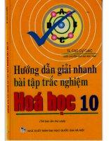 hướng dẫn giải nhanh trắc nhiệm hóa học 10  TS cao cự giác (free)