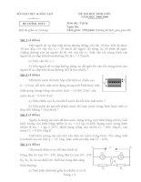 Bộ đề thi học sinh giỏi vật lý tỉnh Cà Mau