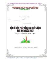 SKKN MỘT SỐ BIỆN PHÁP NÂNG CAO CHẤT LƯỢNG DẠY HỌC 2 BUỔI-NGÀY Ở TIỂU HỌC