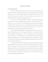 luận văn Sự phản ánh phong tục cưới hỏi trong ca dao người Việt