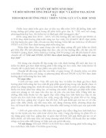 CHUYÊN ĐỀ MÔN SINH HỌC VỀ ĐỔI MỚI PHƯƠNG PHÁP DẠY HỌC VÀ KIỂM TRA ĐÁNH GIÁ THEO ĐỊNH HƯỚNG PHÁT TRIỂN NĂNG LỰC CỦA HỌC SINH