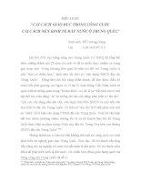 tiểu luận Cải cách giáo dục trong công cuộc cải cách nền kinh tế đất nước ở Trung Quốc