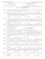 đề ôn tập học kì 1 số 2