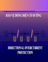 Bài giảng chuyên đề bảo vệ dòng điện có hướng