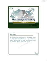 Bài 3 Môi Trường Marketing