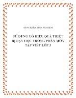 SKKN Sử dụng có hiệu quả thiết bị dạy học trong phân môn Tập viết lớp 3