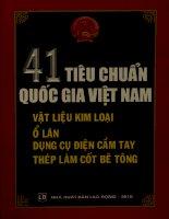 41 tiêu chuẩn quốc gia Việt Nam - Vật liệu kim loại, ổ lăn, dụng cụ điện cầm tay, thép làm cốt bê tông