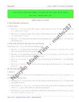 SKKN Ứng dụng tính đơn điệu của hàm số vào giải toán THPT - Nguyễn Minh Tiên