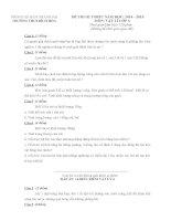 20 đề thi học sinh giỏi vật lý lớp 6 có đáp án cực hay