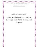 SKKN Sử dụng bản đồ tư duy trong dạy học ngữ pháp Tiếng Anh lớp 10
