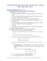 CHUYÊN ĐỀ ÔN HỌC SINH GIỎI CẤP HUYỆN VÀ TỈNHMÔN: HÓA HỌC THCS