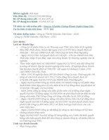 báo cáo thực tập tại Công ty Cổ phần Đầu tư và Thương mại TNG
