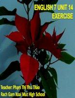 E 7 UNIT 14 TEXTBOOK EXERCISE