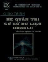 Giáo trình Hệ quản trị cơ sở dữ liệu Oracle