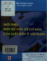 Giới thiệu một số vấn đề cơ bản của luật biển ở Việt Nam