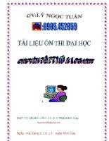 Tài liệu ôn thi đại học  Chuyen đề phương trình mũ và logarit