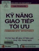 Kỹ năng giao tiếp tối ưu - 24 bài học giao tế hiệu quả trong công việc hàng ngày