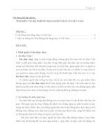 Bài tập Văn hóa ẩm thực và tôn giáo: TÌM HIỂU VỀ HỆ THỐNG NHÀ HÀNG CHAY Ở VIỆT NAM