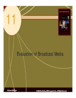 Chapter 11 Evaluation of Broadcast Media